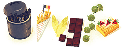 Google Logo: Belgian National Day - 2012