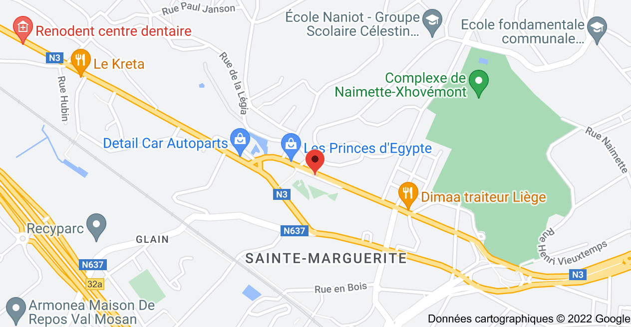 Rue de Hesbaye 167, 4000 Liège: carte